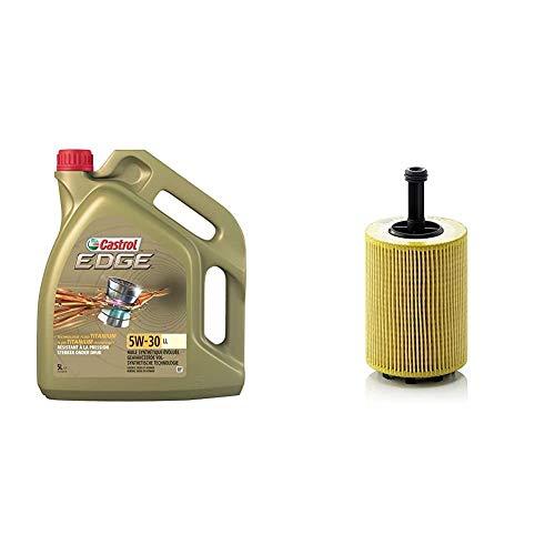 Castrol Edge 5W-30 LL Motorenöl 5L + Mann Filter Ölfilter HU 719/7 X - Für PKW und Nutzfahrzeuge