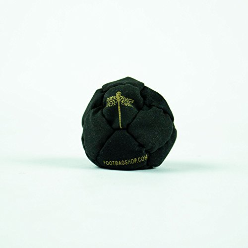 Dragonfly Footbags Brown, Light Green, and White Nemesis 14 Panel SandFilled (Hacky Sack)