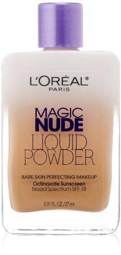 L'Oreal Paris Magic Nude Liquid Powder Bare Skin Perfecting Makeup SPF 18, Natural Buff, 0.91...