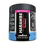 Harambe Blood Preworkout Powder for Men & Women - Extreme Pump and Energy Supplement - Pink Starblast - 350g