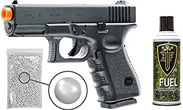 Glock Gen3 G19 Gas Blowback Airsoft Pistol with Included Elite Force Airsoft Green Gas Can and Wearable4U Pack of 1000 6mm 0.20g BBS Bundle