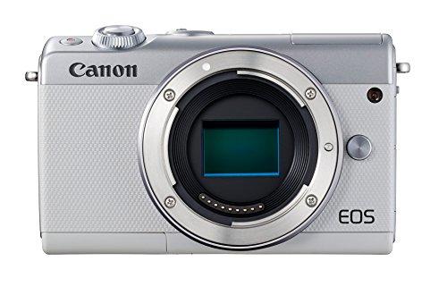 Canon EOS M100 - Cámara Evil compacta de 24.2 MP (LCD, FHD, Bluetooth, WiFi/NFC, Dual Pixel AF, DIGIC 7) Blanco - Solo Cuerpo