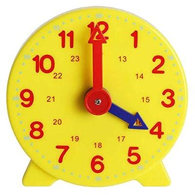 COTTILE Reloj de Aprendizaje niños Estudiantes Montessori Tiempo de Aprendizaje Reloj Maestro de COTTILE