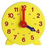 BSTCAR Lernuhr Kinder, Schüleruhr, Demonstrationsuhr Uhr Lernen Uhr Zeit Kinder Spaß Lernen Hilfe Lern 10cm