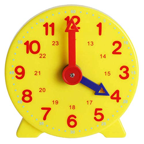 Tijdlerende klok, Montessori Student Learning Clock Time Teacher Gear Clock 12/24 Hour Student Learning Clock Maths Home Education, instelbare onderwijsklok voor kinderen Early Educational Digital