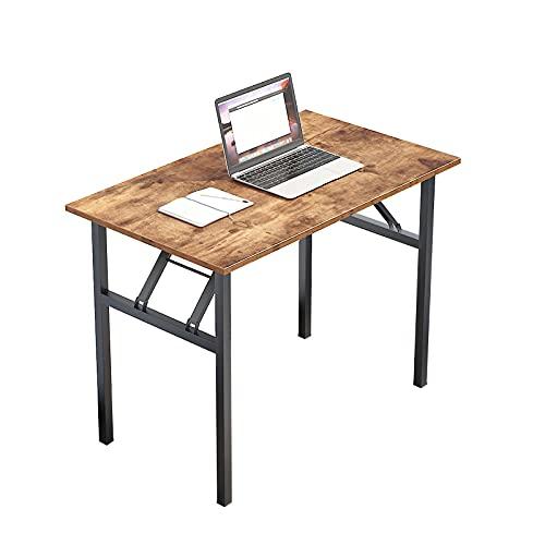 DlandHome Mesa Plegable Mesa de Ordenador Escritorio de Oficina 100x60cm Mesa de...