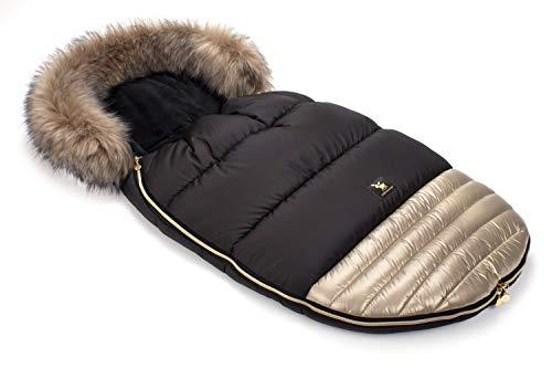 Cottonmoose Footmuff Moose Shine Sacchi termici Sacco Invernale Universale per passeggino e carrozzina morbido pile termico 100 x 50 cm (651 Shiny – Gold 100 x 50 cm)