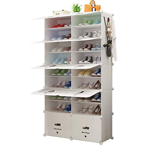 N/Z Home Equipment Portable Shoe Storage Organzier Tower Modular Cabinet for Space Saving Ideal Shoe Rack for Shoes Boots Slippers Multi-Functional (Color : Black Size : 85x31x158cm)