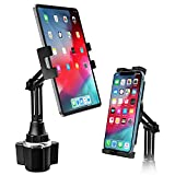 woleyi Universal Cup Holder Tablet Mount for Car Vehicle, Truck, Treadmill, Wheelchair, Golf Cart, Boat and More Cupholder for iPad Pro/Air/Mini, Galaxy Tabs, iPhone, All 4-13' Smartphones and Tablets