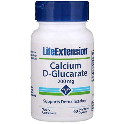 Life Extension Calcium D-Glucarate (200mg, 60 Vegetarian Capsules)