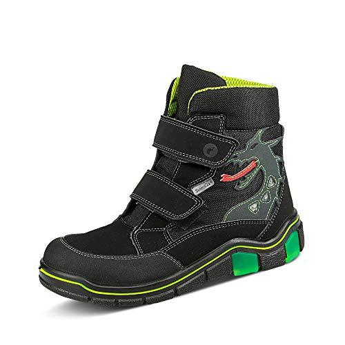 RICOSTA Jungen Boots GRISU, Weite: Weit (WMS),Sympatex,Blinklicht,Kids,Winterboots,Outdoor-Kinderschuhe,warm,schwarz (092),27 EU / 9 Child UK