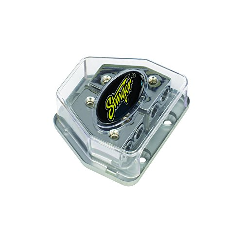 Stinger SPD570 PRO Series Maxi Fused Power/Ground Distribution Block with One 4 Gauge Input and Two 8 Gauge Outputs