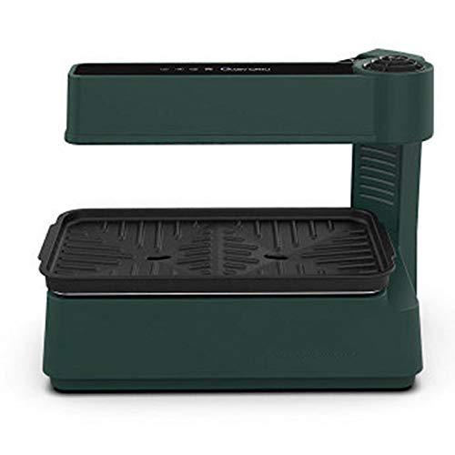 TWW Grillmaschine Rauchfreier Elektrischer Ofen Heizt Auf Und Ab Grillmaschine Mini-Grill Für Den Heimgebrauch Geeignet,Grün