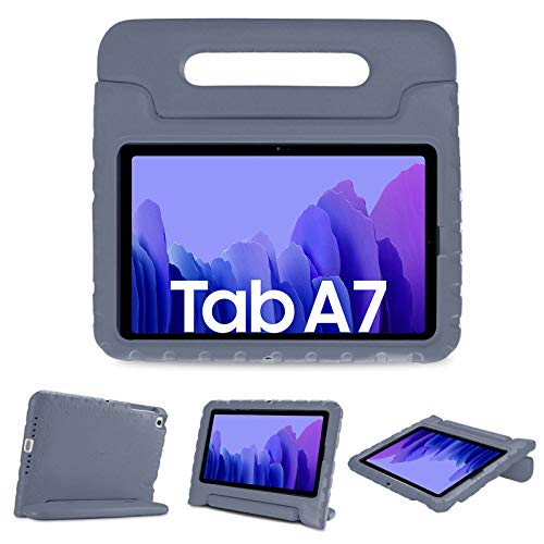 """Durable case for Galaxy Tab A7 10.4"""" 2020 (SM-T500 / T505/ T507) ; Please check the model number SM-T*** at the Setting of the tablet before purchase -Grey"""