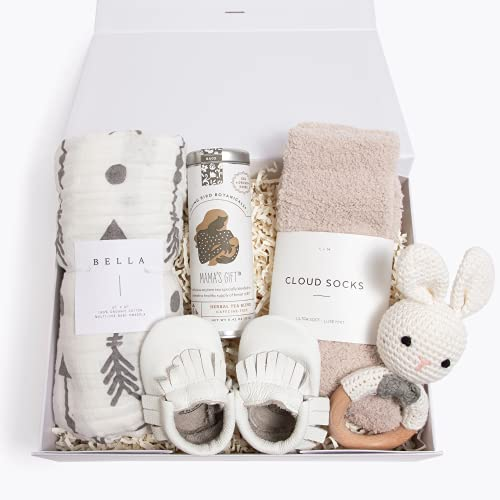 Unboxme Deluxe Gift Box For New Moms | Post-Partum Care Package, Push Present | Gift Set for New Baby Girl, Baby Boy, Or Gender Neutral | Baby Shower Gift, Gift Basket, Gift Set, Baby Gift Ideas