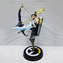 DMCMX Overwatch Toy Game Model PVC Children's Collection Statue Desktop Decoration Statue Model Bow and Arrow Master Sniper Hero Shimada Hanzo Samurai Static Decoration