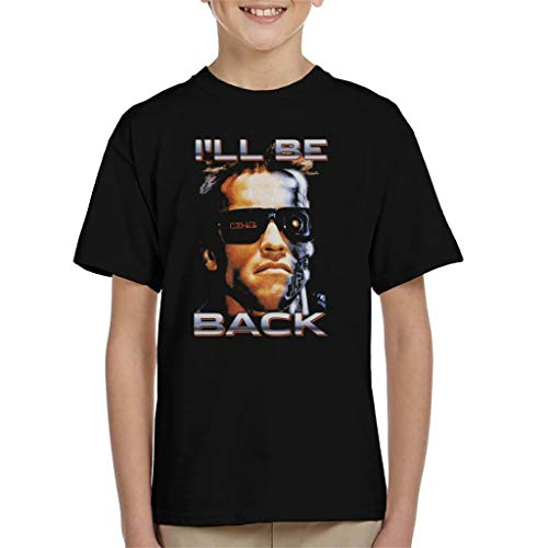 Child's I'll Be Back Arnie Quote T-shirt, 3 to 13 years