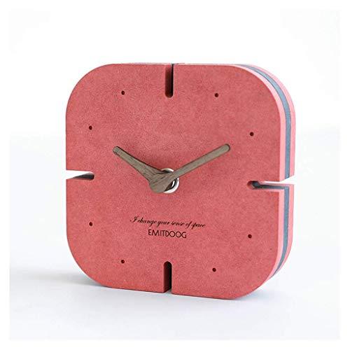 MUMUMI Reloj Despertador, Reloj Nuevo Escritorio de Mesa de Escritorio de Escritorio Comunicación de Decoración Creativa Mesa Sala de Estar Decoración de Escritorio Nordic Silencioso Gris Alarma,F