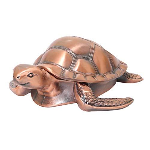 Cinzeiro turtle à prova de vento com tampas porta-cinzeiros de metal vintage