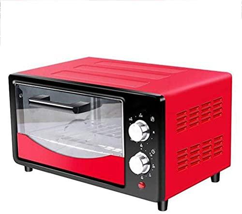 Mini Horno eléctrico 12 l,Horno Tostador multifunción para encimera,Horno Tostador asador (Color:Rosa)