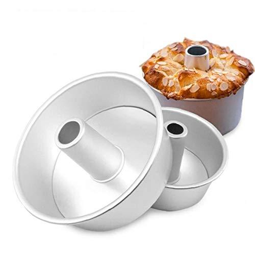 Aluminiumlegierung Runde Hohle Antihaft-Chiffon-Kuchen-Form Angel Food Cake Pan Backform Abnehmbarem Boden (6 Zoll)