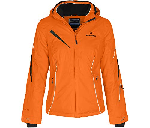 Bergson Damen Skijacke Destiny, Persimmon orange [513], 46 - Damen
