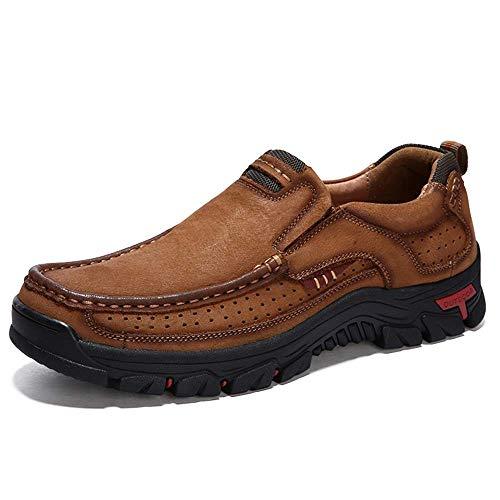 CERYTHRINA Zapatos de senderismo para hombre, de cuero, ligeros, transpirables, casuales, con cordones, para negocios, trabajo, oficina, vestido