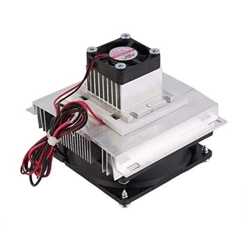 Morninganswer Enfriador termoeléctrico Peltier Refrigeración Semiconductor Kit de Sistema de enfriamiento Enfriador Ventilador Kit Terminado Componentes de computadora