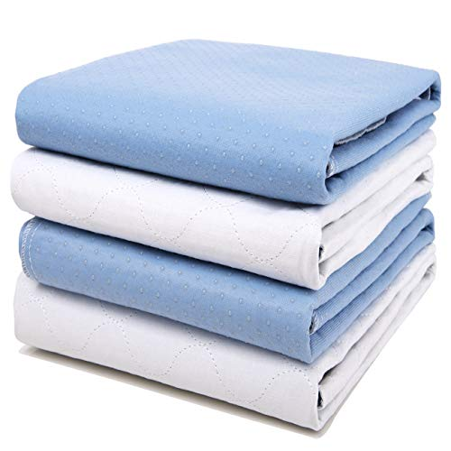 "4 Pack Bed Pads for Incontinence Washable 34"" x 36"",Waterproof Bed Pads,Adult Washable Incontinence Bed Pads for Adults,Dog,Kids"