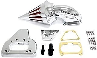 Krator® 2002-2009 Honda VTX 1800 Cruiser High Quality Chrome Billet Aluminum Cone Spike Air Cleaner Kit Intake Filter Motorcycle