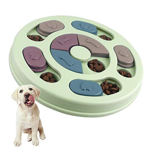 Elezenioc Hundespielzeug Intelligenz Hundefutter Welpenspielzeug,Verlangsamen Sie das Essen von Hundespielzeug,Anti-Rutsch-Puzzle-Spielzeug für Hunde, Welpen und Katzen (Grün)