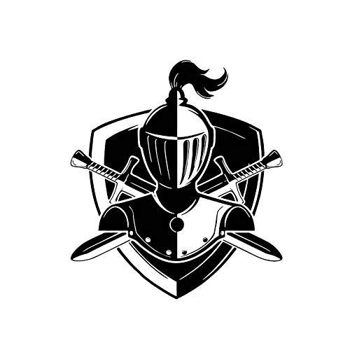 XLYDF 13,4 x 15,2 cm Vivid Knight Symbol Decal Soldato auto adesivo nero/argento che copre il corpo vinile (colore nome: nero)