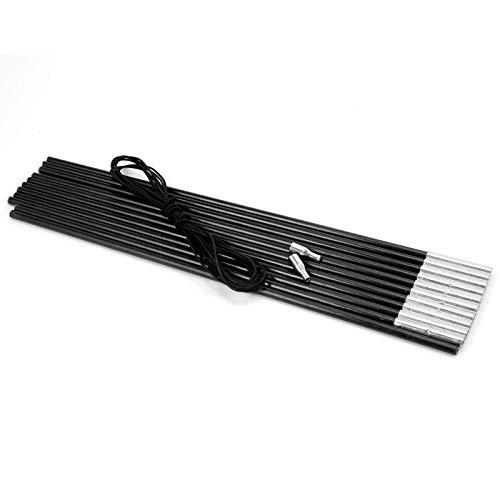 Ersatz-Set Zeltstangen Glasfaser Schwarz DIY Camping Sonnensegel für Reparaturen 4,5m x 11mm