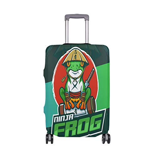 Cool Hero Ninja Frog Luggage Cover Suitcase Protector Fashion Travel Spandex Covers for Boys Girls Men Women