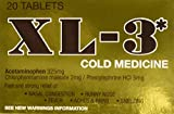 XL-3* Cold Medicine, 20 Tablets Each (Pack of 2)