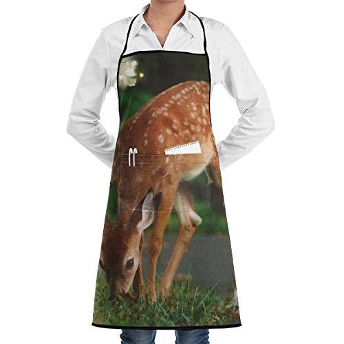 Mackinto Unisex PVC Wasserdicht Schürze, Öl resistent Kochschürze mit Taschen, Verstellbarem Küchenschürze, Grillschürze, latzschürze,für Frauen Männer Chef - Einfach zu Reinigen