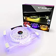 WFPOWER Cooling Fan Pad with RGB LED Backlight, Multi-Color Gaming Mood Light Cooler Stand with RF Remote Control, Compatible with Xbox, PS4, PS5, 4 Pro, PS4 Slim, Consoles, Laptop, Notebook