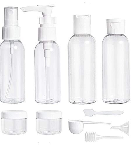 ShaniTech Flüssigkeitsbehälter für Flüssigkeiten, Accessoires, Kosmetikprodukte, Toilettenartikel, Klar für Flughafen-Sicherheit, TSA-Zulassung, 10 Stück