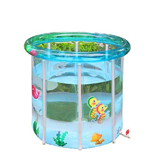HSF Bebé Piscina hogar Transparente Inflable bebé natación Cubo niños pequeños y niños bañera Gruesa Aislamiento Piscinas hinchables (Size : M(78 * 80cm))