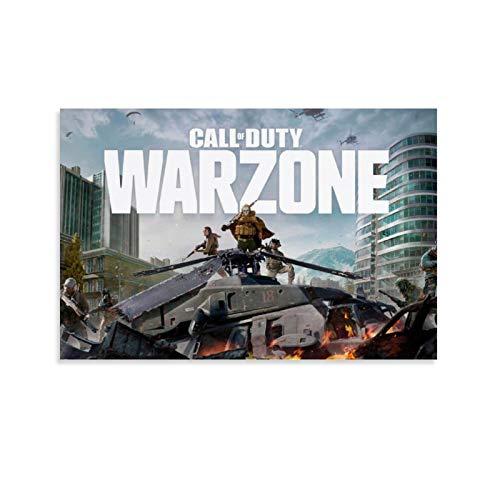 WETUO Póster de juego de Call of Duty Warzone de Call of Duty - Lienzo decorativo para pared, para sala de estar, dormitorio, 20 x 30 cm