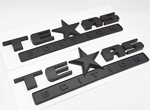 Usudu G-TXB SET(2) Black TEXAS EDITION EMBLEMS BADGE 3D ABS F150 F250 F350 Fender Tailgate Nameplate