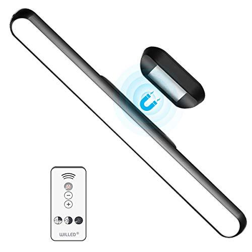 WILLED Regulable Luces Armario de ángulo Ajustable, Con control remoto, 5W Debajo de la luz del Gabinete de Recargable USB, Magnet Mount Stick-on Anywhere Cocina Dormitorio Armario