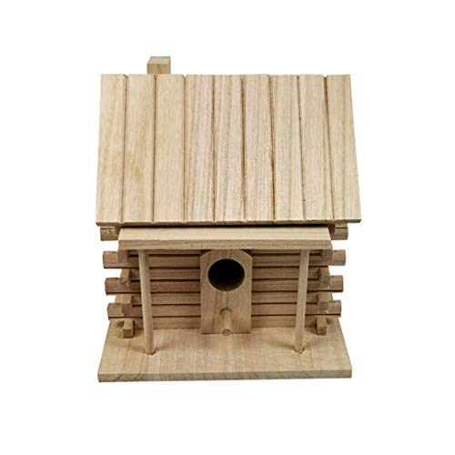 Eillybird Houten vogelhuis DIY vogelnest kooi outdoor hangend vogelhuis warme kweekdoos voor golfstok mynah papegaai vogelkooi 17 16 18 cm