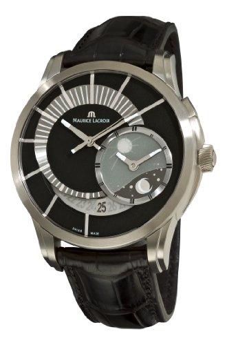Maurice Lacroix PT6108-TT031391 Pontos Decentrique GMT Edición Limitada Negro GMT Dial Watch