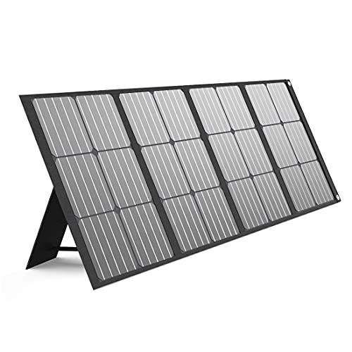 BALDR 120W Portable Solar Panel for Jackery/ROCKPALS/Flashfish/Goal Zero Power Station Generator, Foldable Solar Cell Charger with 2 USB Ports & 18V DC Output for RV Boat Car