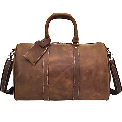ボストンバッグ メンズ 本革 2泊 機内持ち込み レザー 旅行鞄 アンティーク レザー トラベルバッグ 旅行バッグ ブラウン 大容量 革 ショルダーバッグ