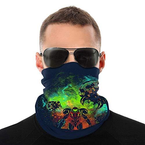 XCNGG Metroid Art Powder Splash Variedad Pañuelo para la Cabeza Mascarilla Magic Headwear Cuello Polaina Pañuelo para la Cara Bufanda Negra