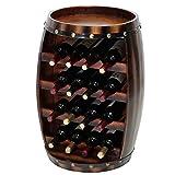 JPL Botelleros de vino Estante de vino Barril de madera Porta botellas de madera Tablero de mesa 14 botellas