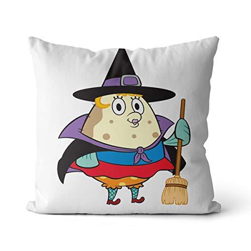 Tirar Almohadas Spongebob ms Puff Almohada de Microfibra para Fundas de Almohada al Aire Libre del sofá Cama , con Relleno 40x40cm