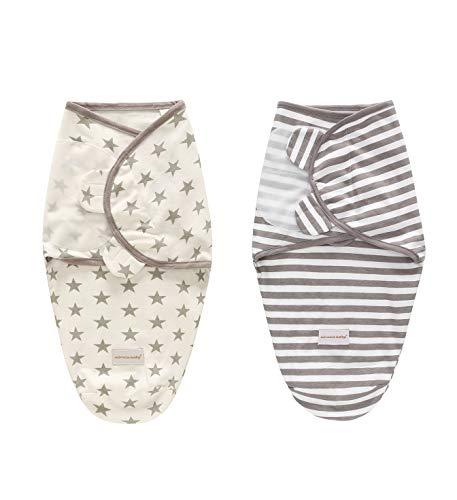 2er Baby Pucksack Pucktuch Pucktcher Wickeldecke Puckschlafsack Baumwolle Junge Mdchen Neugeboren 0-3 3-6 Monate